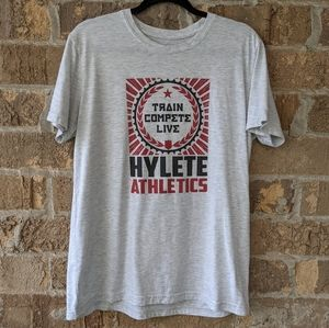 HYLETE Train Compete Live Gray S/S T-Shirt Large